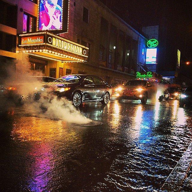 The driving rain